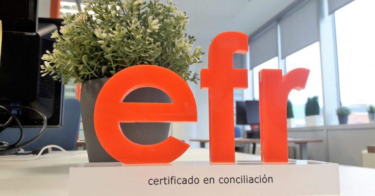 Renovamos nuestro Certificado como empresa efr y celebramos 12 años de compromiso con la conciliación